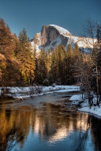 Merced River reflecting Half Dome