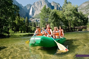 Rafting the Merced River
