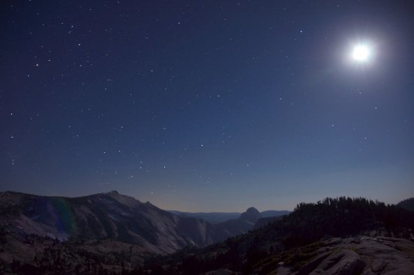 Clouds Rest, Half Dome and the Moon