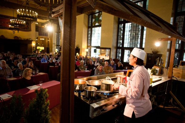 Cooking demonstration for Chefs' Holidays. Photo by Chris Andre.