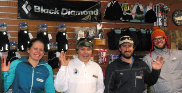 Stop in and say hi to some of the folks at the Cross Country Ski Center. Lessons and retails available.