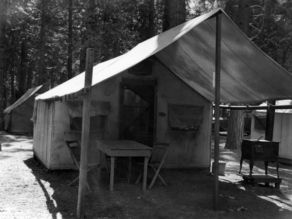Housekeeping Tent at Camp 16 from the Yosemite National Park Research Library