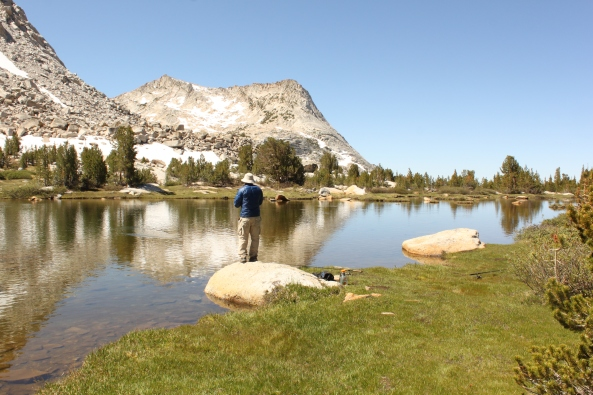 Fletcher Lake near Vogelsang High Sierra Camp in Yosemite