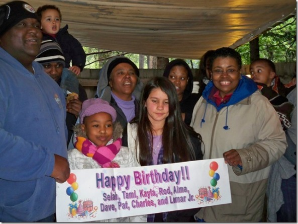 The Craig Family celebrates a birthday at Housekeeping Camp