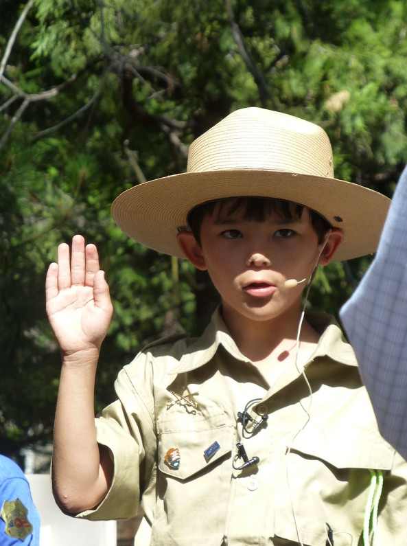 Ranger Gabriel is sworn in at Yosemite National Park. Photo by Michelle Hansen.