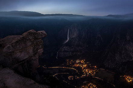 Yosemite Valley at Night by Kristal Leonard