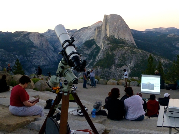 Glacier Point Star Party in Yosemite.