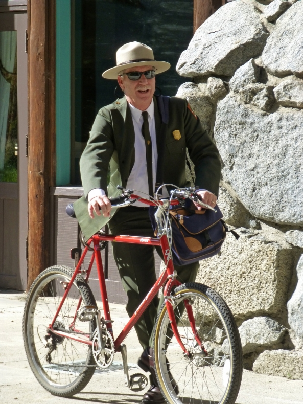 National Park Service Superintendent Don Neubacher also bikes to work in Yosemite.