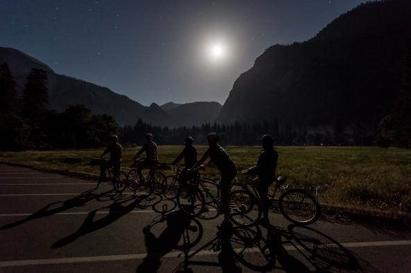 Full Moon Bike Ride in Yosemite Valley