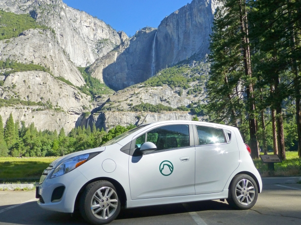 DNC Parks & Resorts at Yosemite's newest fleet vehicle - the Chevrolet Spark.