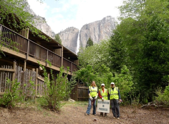 Restoration at Yosemite Lodge at the Falls in 2014.