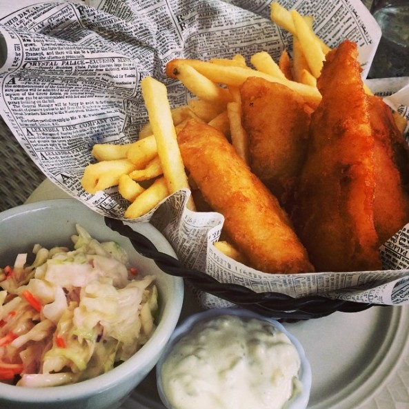 Fish & Chips at The Wawona Hotel Dining Room