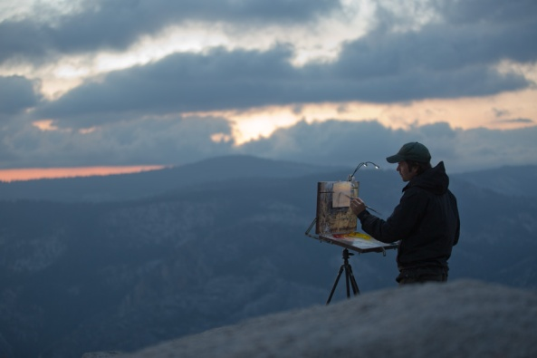 Painting on Sentinel Dome