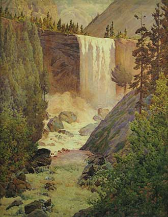 Vernal Fall by Gunnar Widforss.