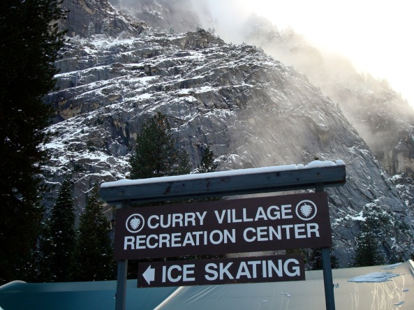 ice rink sign