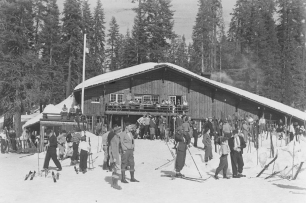Badger Pass Ski House in 1937