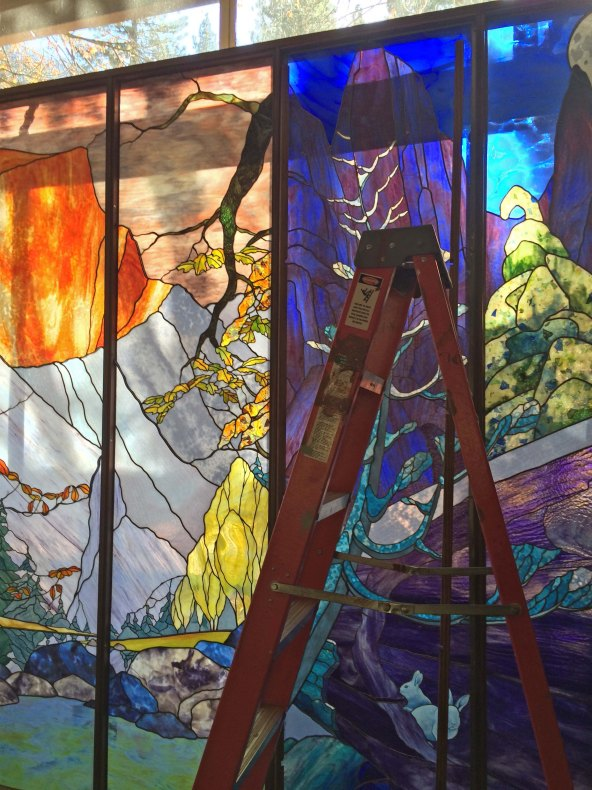 Stained Galss Mural Yosemite Lodge 2014