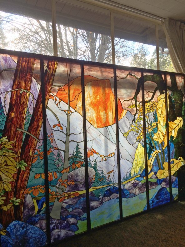 Tissiack Stained Glass at Yosemite Lodge 2014