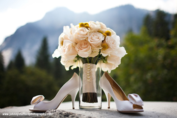 Yosemite Wedding Shoes and Flowers