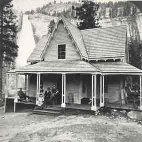 Casa Nevada at the base of Nevada Fall in Yosemite.