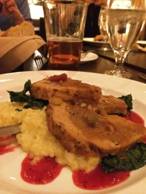 Yosemite Social Winter 2015 Mt Room Dinner Pork Roulade