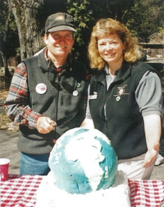 Mark with Julie Miller celebrating Earth Day