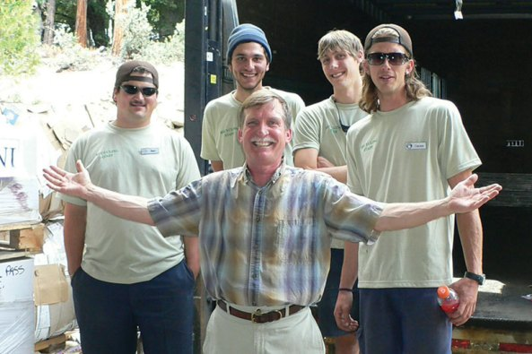 Mark in 2010 with some of the recycling crew.