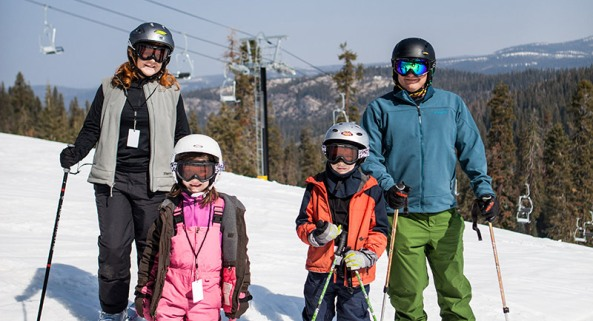 Skiing with the family at Badger Pass