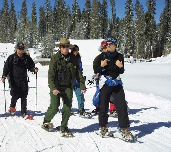 Ranger-led snowshoe walk
